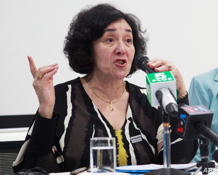 FILE - Leila Zerrougui, special representative of the U.N. Secretary-General for Children and Armed Conflict, July 16, 2015.