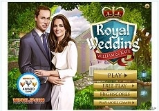 Image of Miniclip online game dedicated to the royal wedding.