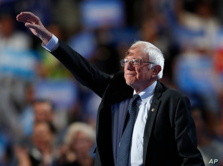 Bernie Sanders closes out the first day of the Democratic National Convention