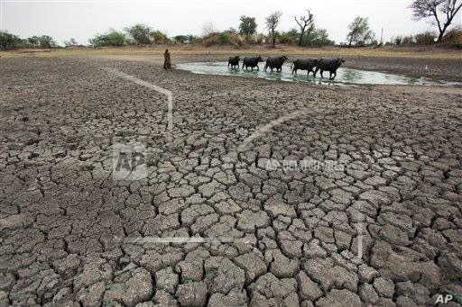 India, July 15, 2014 – AP -- Half of the four billion people faced with water scarcity live in China and India