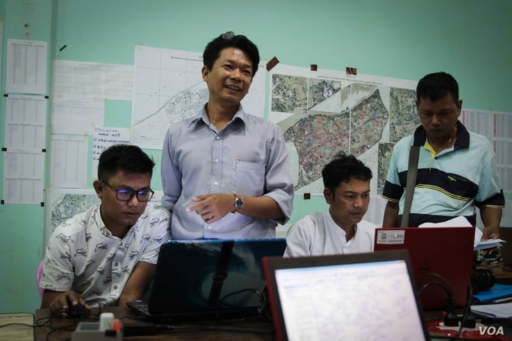 Some of the team from the government's Archaeology Department offices, located next to Bagan. Efforts are ongoing to secure Bagan UNESCO World Heritage status. (Photo: John Owens for VOA)