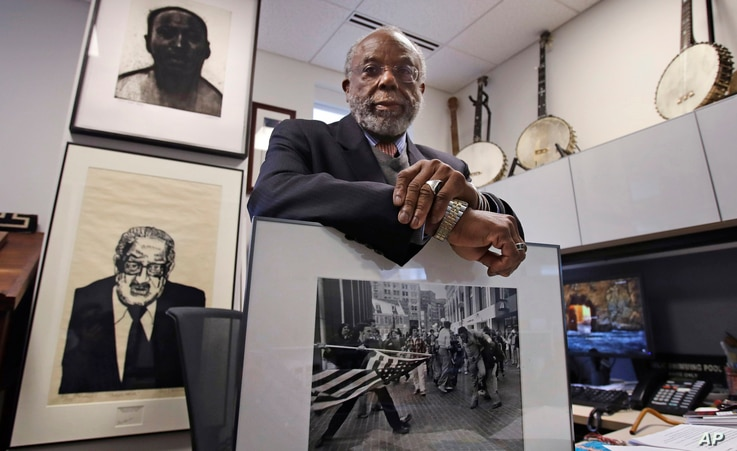Theodore Landsmark, lawyer, architect and director of the Dukakis Center for Urban and Regional Policy at Northeastern University, is pictured in his office in Boston, March 27, 2018.
