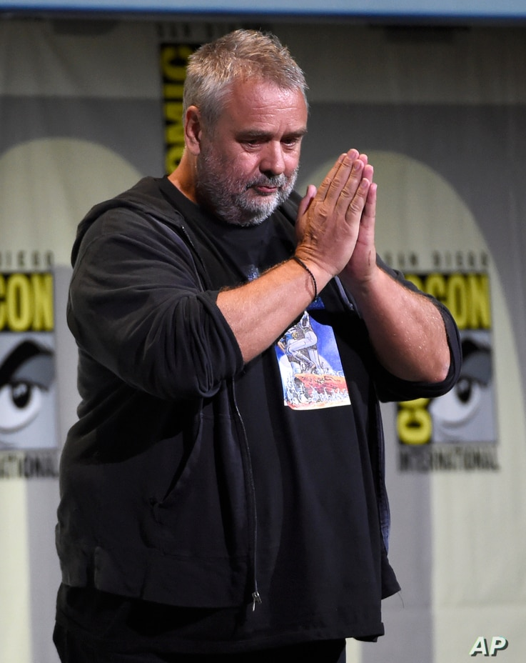 """Director/producer/writer Luc Besson attends the """"Valerian and the City of a Thousand Planets"""" panel on Day 1 of Comic-Con International in San Diego, July 21, 2016."""