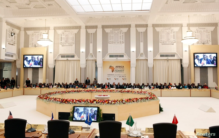 A general view of the opening of the Africa Action Summit, on the sidelines of the UN Climate Change Conference 2016 (COP22) in Marrakech, Morocco, Nov. 16, 2016.