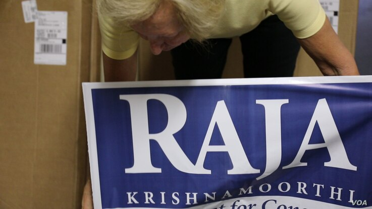 Incumbent Raja Krishnamoorthi goes by his first name, which his constituents can more easily pronounce.