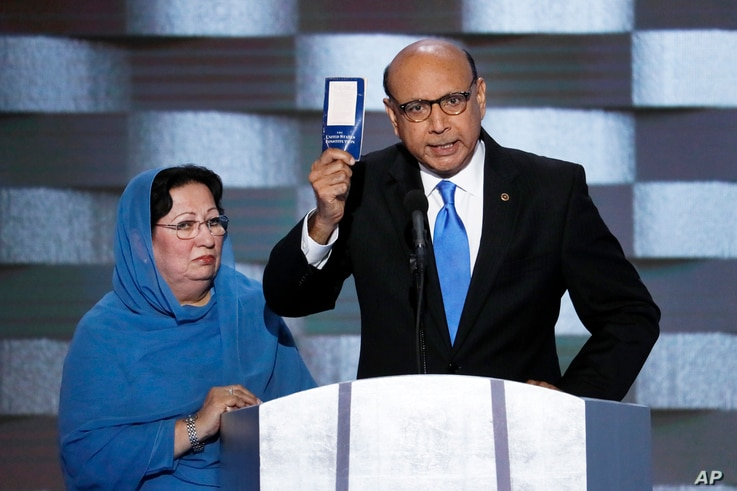 """Khan: """"Trump, have you even read the US constitution? You can borrow my copy!"""""""