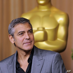 """George Clooney, a Best Actor nominee for """"The Descendants"""" and an Adapted Screenplay nominee for """"The Ides of March,"""" at Academy Awards Nominees Luncheon in Beverly Hills,  Feb. 6, 2012."""