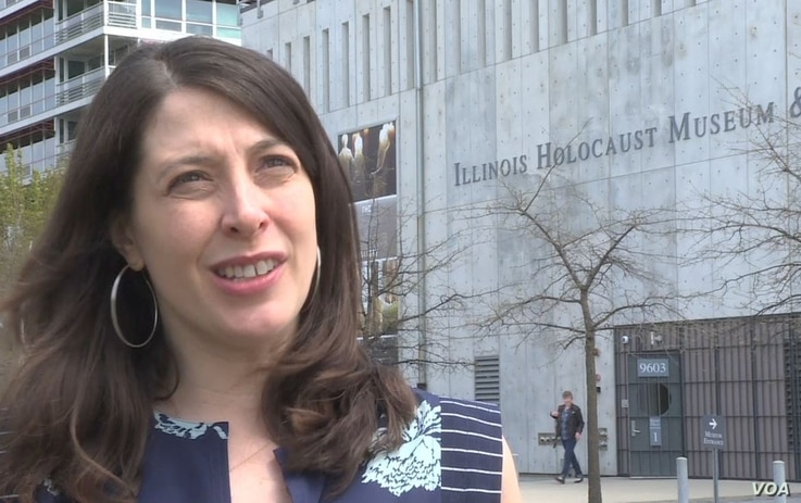 Shoshana Buchholz-Miller, with the Illinois Holocaust Memorial and Education Center.
