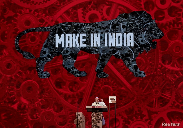 India's Prime Minister Narendra Modi speaks during the inauguration ceremony of the 'Make In India' week in Mumbai, Feb. 13, 2016.
