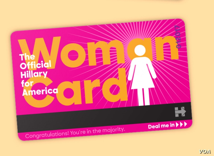 The official HiIlary for America Woman Card (hillaryclinton.com)