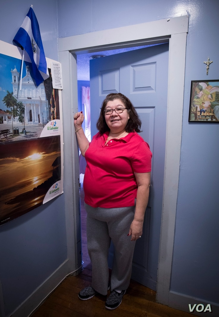 """Guadalupe Gonzalez, an immigrant grandmother from El Salvador, says her Boston neighborhood's """"Immigrant Grandmothers"""" mural makes her feel identified. """"I identify with these grandmothers that came with nothing,"""" Gonzalez said, """"… that came with ..."""