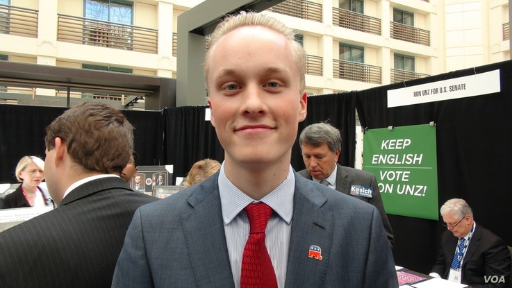 """Trent Carlson, a student at Santa Clara University, supports John Kasich for the Republican presidential nomination, """"but at the same time, I do like quite a lot of what Donald Trump has to say.  He has really shaken up the party, and if he won the p..."""