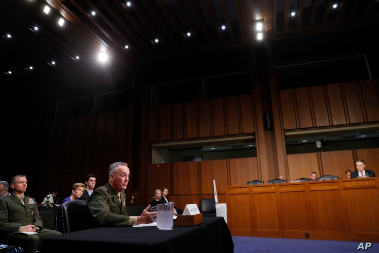 "Joint Chiefs Chairman Marine Corps Gen. Joseph Dunford said he's not seen any shifts in North Korea's military posture despite the reclusive nation's threats to shoot down U.S. warplanes amid the ""charged political environment"" between Wash..."