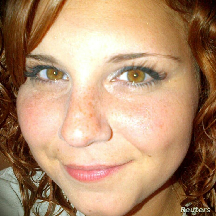 An undated photo from the Facebook account of Heather Heyer, who was killed, Aug. 12, 2017 when a car plowed into a crowd of counter-protesters in Charlottesville, Virginia, (Heather Heyer via Facebook/Handout)
