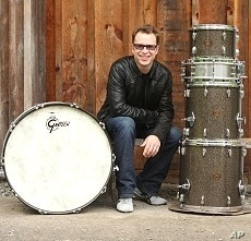 Stanton Moore sits with his drums