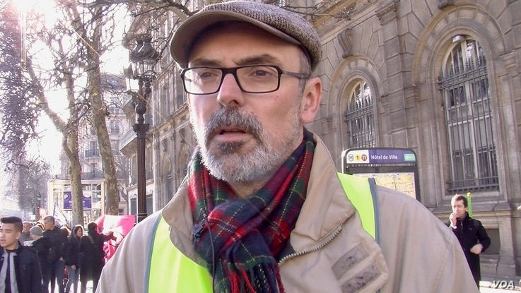 Jerome Partage believes the yellow vest protests are shaping a new revolution in France.