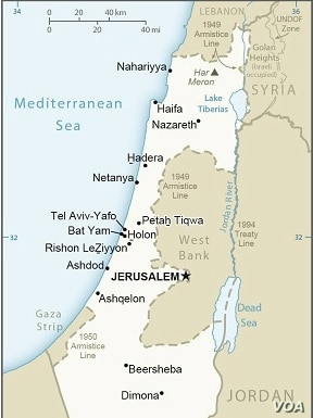The U.S. State Department's map of Israel already showing Jerusalem as the capital but the Golan Heights still as Israeli-occupied territory (screenshot of State Department map, taken March 27, 2019).