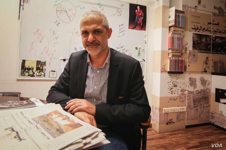 Ahmad Salman, deputy general manager of As-Safir. At the end of last month the newspaper announced that it was closing due to financial issues, only to reverse its decision shortly after. (John Owens for VOA)