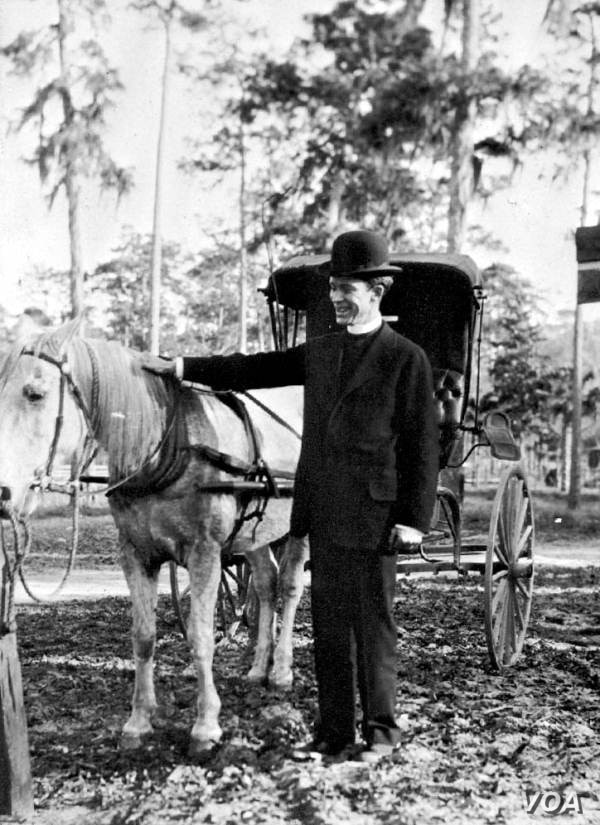 Rev. Dwight F. Cameron, Jr. was a circuit riding minister in Florida in the early 20th century (Courtesy the State Archives of Florida)