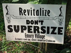 A sign like this will likely not be enough to stop someone from constructing a super-sized house.