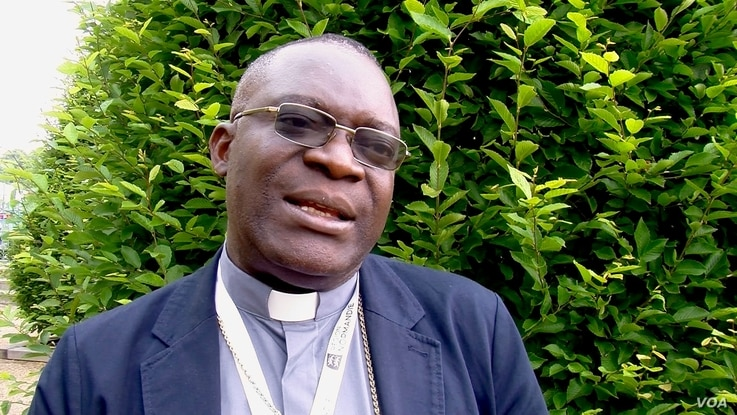Bishop Fulgence Muteba has tried to help ex-child soldiers in his diocese in southern Democratic Republic of Congo. (Photo: L. Bryant / VOA)
