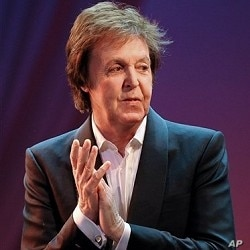 Paul McCartney during 26 Oct concert performance
