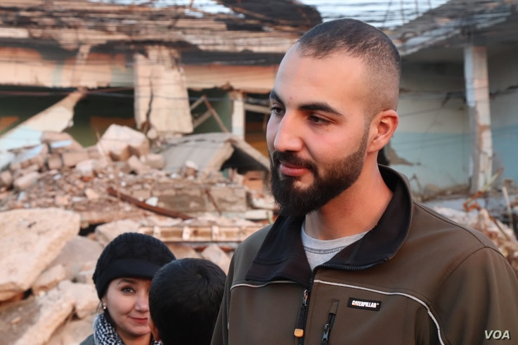 Mohammed Dylan of the local aid group Wasal Tasal for Relief and Development says these combined efforts are not nearly enough to end the suffering in the hardest-hit areas, Nov. 27, 2018, in Mosul, Iraq. (H.Murdock/VOA)