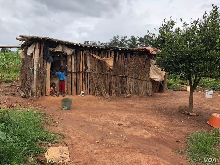 """Common types of """"homes"""" are seen at Manzou farm in Mazowe district, Zimbabwe, March 2, 2018, after the government destroyed the original dwellings to make way for former first lady Grace Mugabe's game park in 2015. (S. Mhofu/VOA)"""