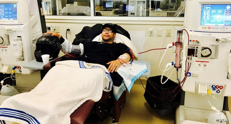 When the kidneys don't work properly, dialysis is used to perform the function of the kidneys. Tony Chhim goes to get dialysis every other day and the process takes 4 to 5 hours, Nanuet, New York, Friday May 12, 2017. (Courtesy of Timothy Chhim)