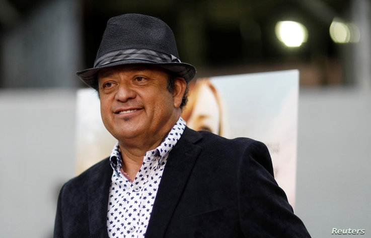 """Cast member Paul Rodriguez poses at a premiere for the movie """"Pray for Rain"""" in Los Angeles, June 7, 2017."""