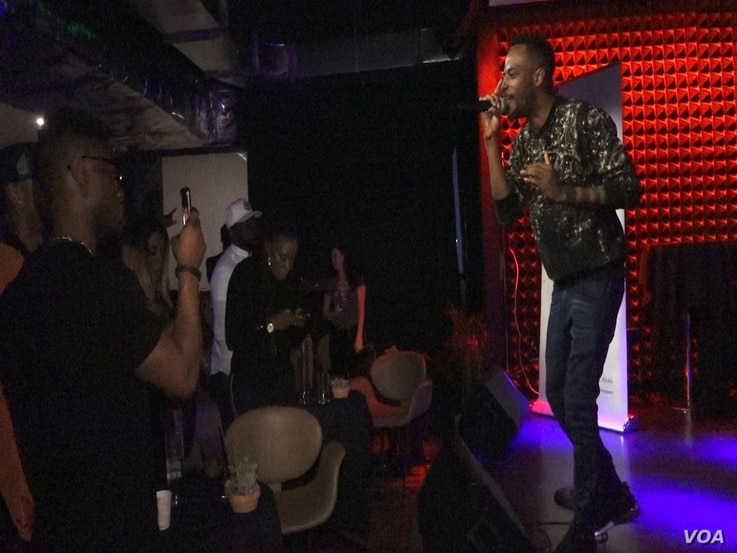 """Nigerian musician, 9ice performed at the Africa House venue in downtown Austin as a part of SXSW. Different regions of the world have """"houses"""" where musicians and techies from that part of the world can go and network."""