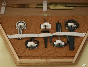 A carrying case full of Jew's harps