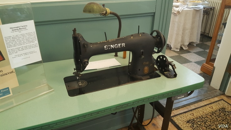 Singer was a popluar brand of sewing machine when people sewed their own clothing (F.El Masry/VOA)