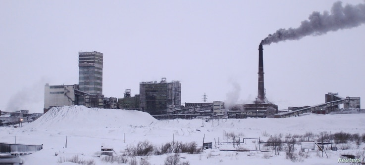 A general view of the Vorkutinskaya mine in Russia's northern Komi region near Vorkuta is seen in this undated file photo provided by Russia's Emergency Ministry. An explosion at the Russian Vorkutinskaya coal mine, Feb. 11, 2013, killed nine people