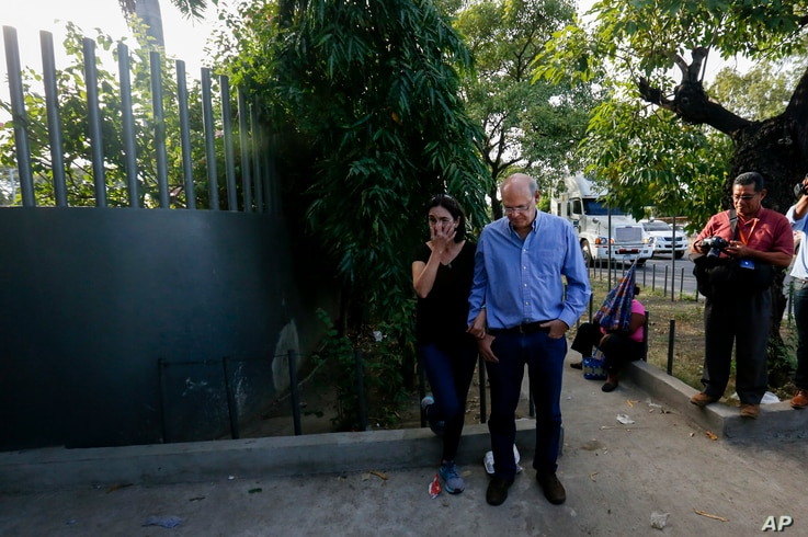 """Carlos Fernando Chamorro arrives outside Central Courts in Managua, Nicaragua, Dec. 17, 2018. The founder of the independent news outlet Confidencial says, """"All Nicaraguans are vulnerable to the possibility that they fabricate charges from the laws..."""