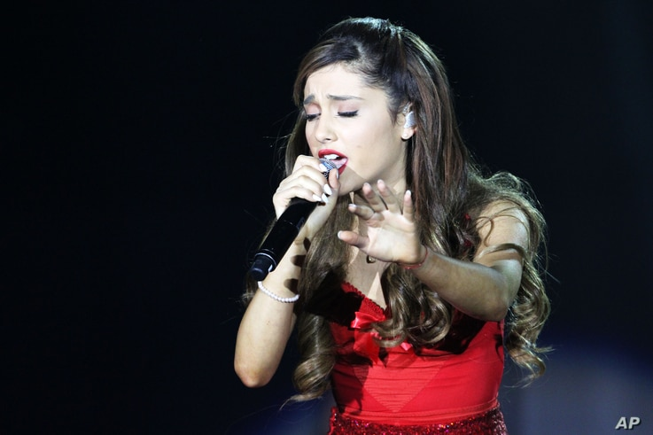 Ariana Grande performing as part of The Believe Tour at Philips Arena on Aug. 10, 2013, in Atlanta.