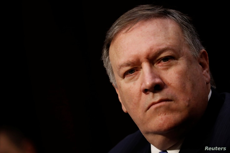 Central Intelligence Agency (CIA) Director Mike Pompeo testifies before the Senate Intelligence Committee on Capitol Hill in Washington, U.S., Feb. 13, 2018.