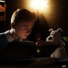 """Tintin (Jamie Bell) and Snowy in """"The Adventures of Tintin"""""""