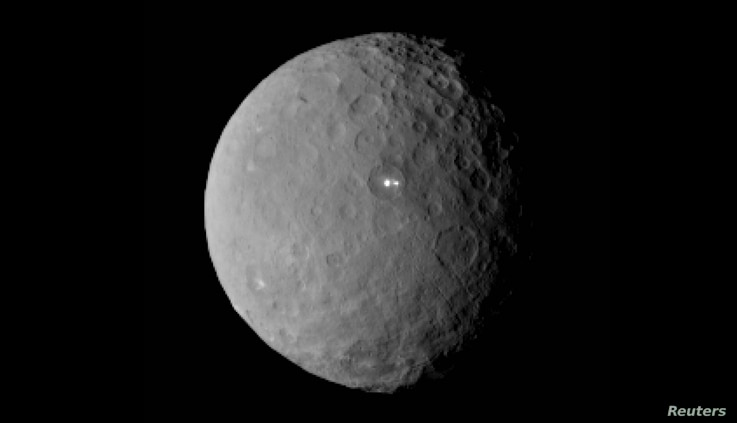The dwarf planet Ceres taken by NASA's Dawn spacecraft on February 19, 2015, from a distance of nearly 29,000 miles is shown in this handout photo provided by NASA, March 2, 2015.