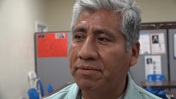 Samuel Santiago Santiago, a restaurant manager who studies part-time at the school inspired by Cesar Chavez, is a U.S. citizen but worries about relatives who are undocumented.