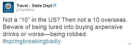 The U.S. State Department's tweet warning Americans about scam artists overseas set of a Twitter firestorm.