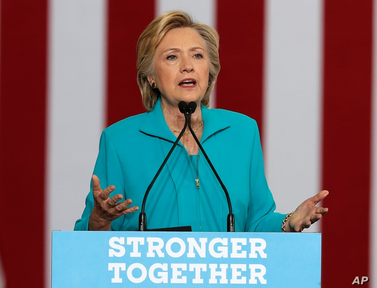 Democratic presidential candidate Hillary Clinton speaks in Reno, Nev., Aug 25, 2016.