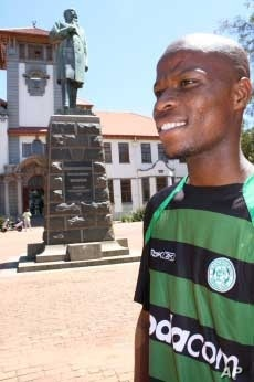 Moses Masitha, the first black president of the Free State University's Student Representative Council