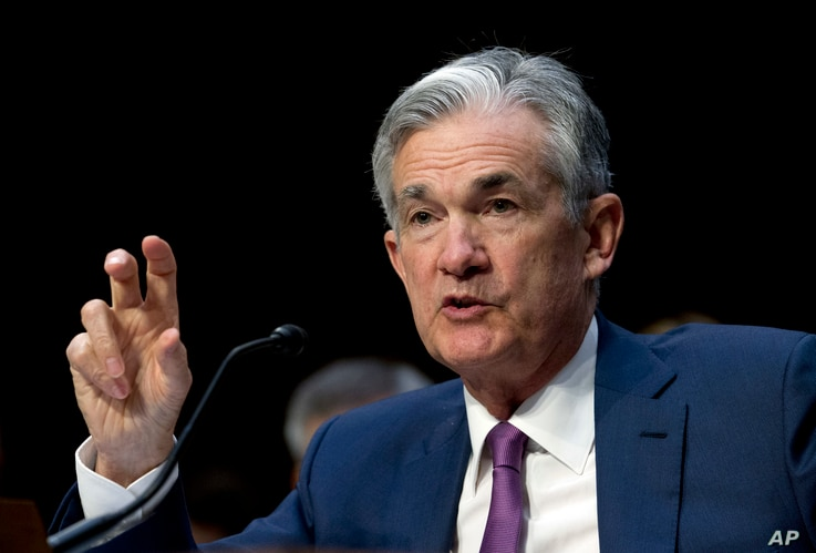 "Federal Reserve Board Chair Jerome Powell testifies before the Senate Committee on Banking, Housing and Urban Affairs on ""The Semiannual Monetary Policy Report to the Congress,"" at Capitol Hill in Washington, July 17, 2018."