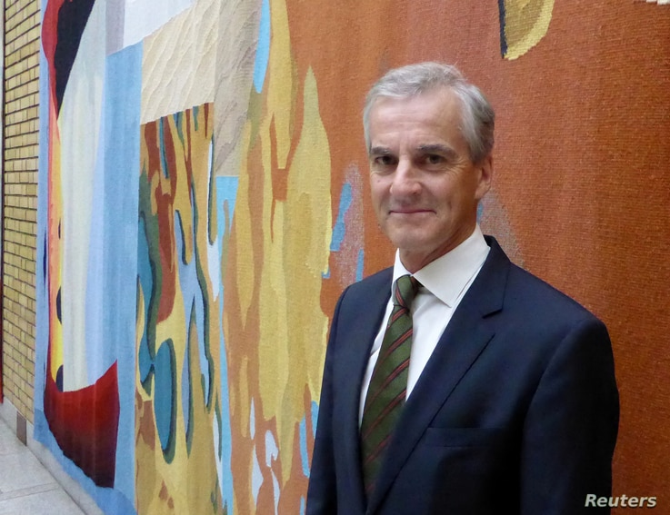 Leader of the Norway's opposition Labor party Jonas Gahr Stoere poses for a picture in parliament in Oslo, Norway, May 30, 2017.
