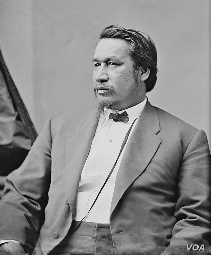 Ely S. Parker, a Tonawanda Seneca Indian from N.Y., the Union Civil War Brevet Brig. General who wrote the terms of surrender between the Union and the Confederate States of America.  Photo by Matthew Brady.