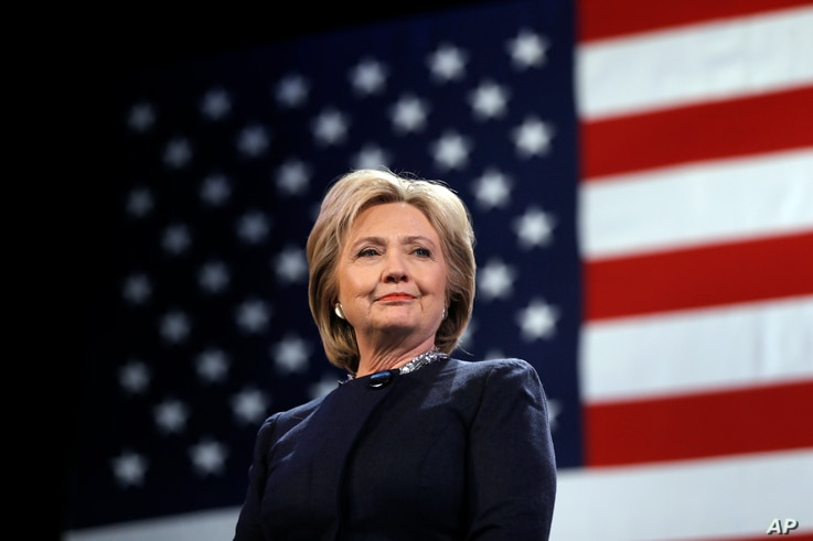 FILE - Democratic presidential candidate Hillary Clinton is introduced during a campaign stop, Jan. 22, 2016, in Rochester, N.H.