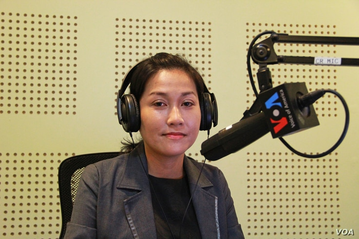 """Ms. Sok Sikieng, Technovation Ambassador in Cambodia and Lecturer of Information Technology at Royal University of Phnom Penh discusses """"Opportunities and Challenges for Cambodian Women in Tech"""" on VOA Khmer's Hello VOA """"New Voices"""", Monday, Ma..."""