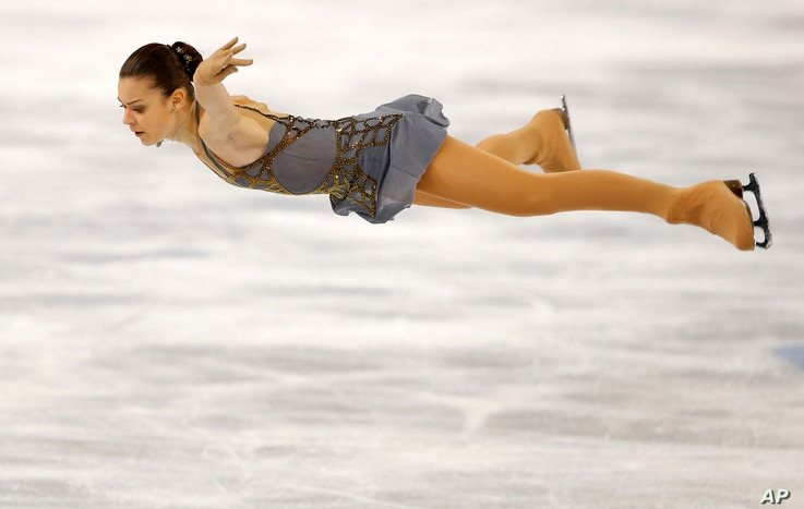 Adelina Sotnikova of Russia competes in the women's free skate figure skating finals at the Iceberg Skating Palace during the 2014 Winter Olympics, Feb. 20, 2014, in Sochi, Russia.
