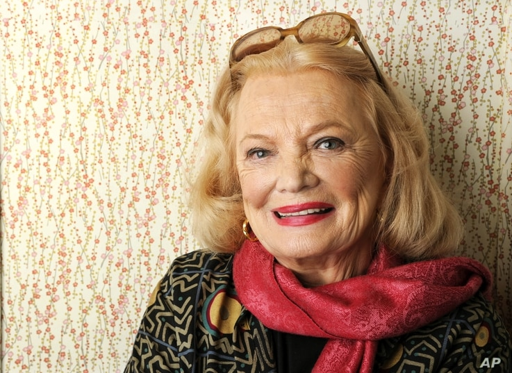 "FILE - Gena Rowlands, pictured in December 2014, has made 40 feature films during her career, earning Oscar nominations for ""A Woman Under the Influence"" and ""Gloria."""
